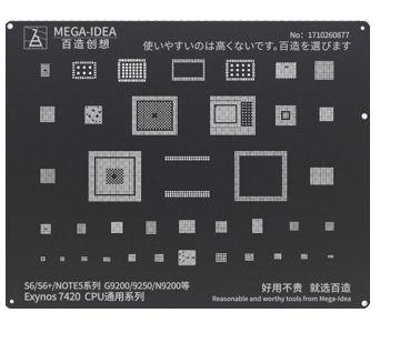 STENCIL REBALLING BGA SAMSUNG BLACK  ANDROID BZ 19 EXYNOS 7420 CPU PARA S6/S6+/NOTE5 SERIES G9200/9250/N9200