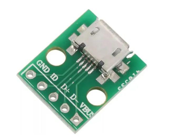 MICRO USB P ADAPTADOR DIP 5PIN FÊMEA CONECTOR TIPO B