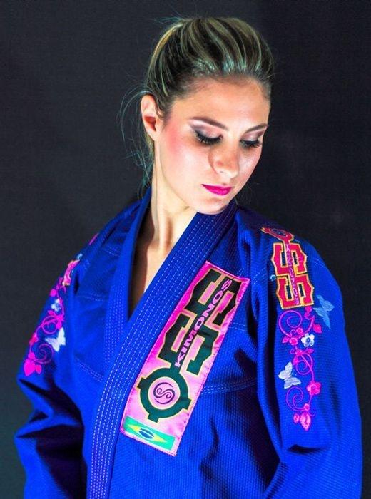 Kimono Jiu Jitsu Oss Feminino Competition Azul