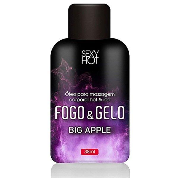 Óleo Beijável Big Apple  Fogo & Gelo para Massagem 38ml
