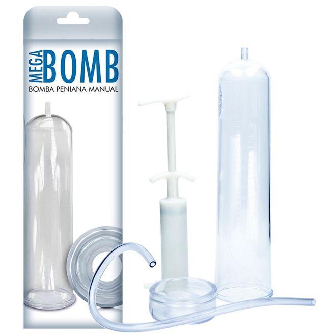Bomba Peniana Manual Mega Bomb com Seringa