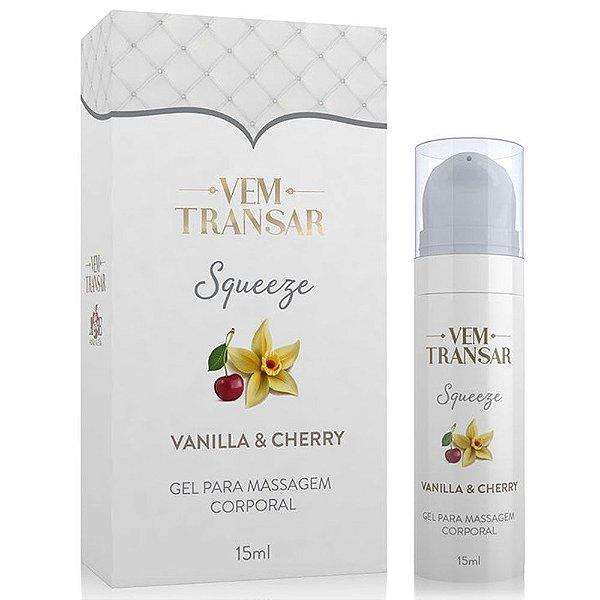 Gel Squeeze Lubrificante Sensibilizante Beijável Vanilla e Cherry 15ml
