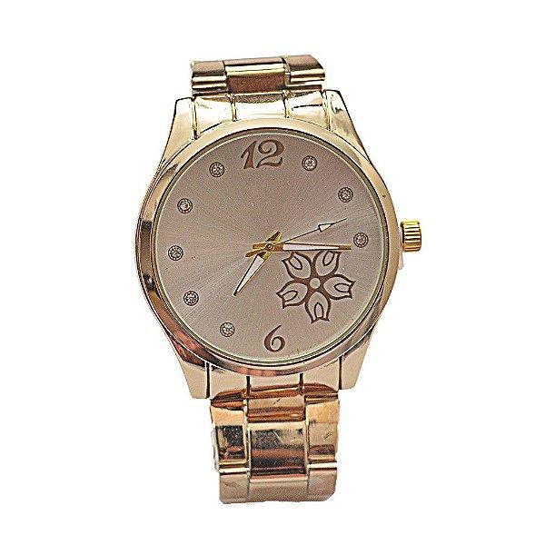 Relógio Feminino Stainless Fundo de Tela com Florzinha