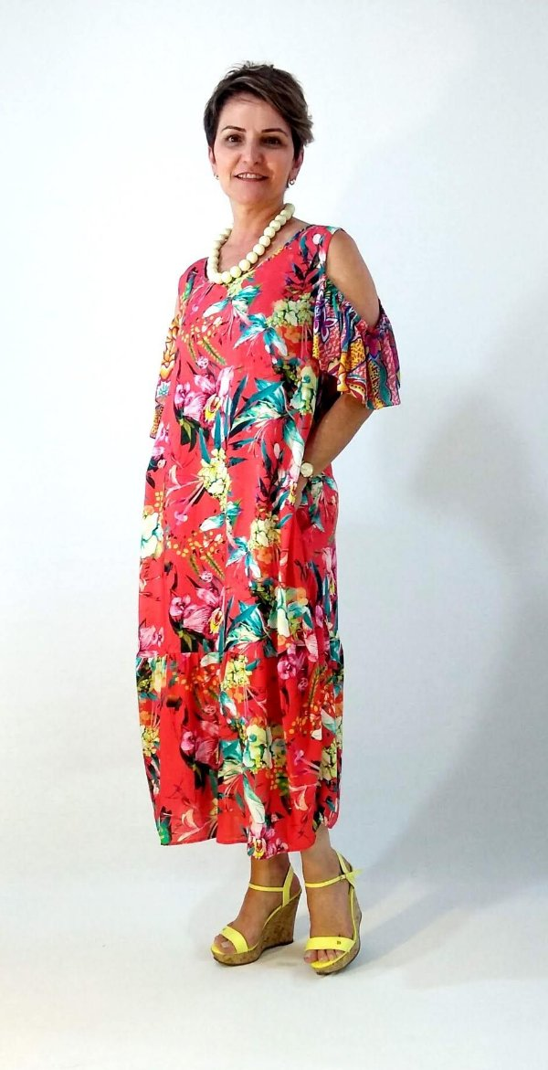 Vestido Floral Romã