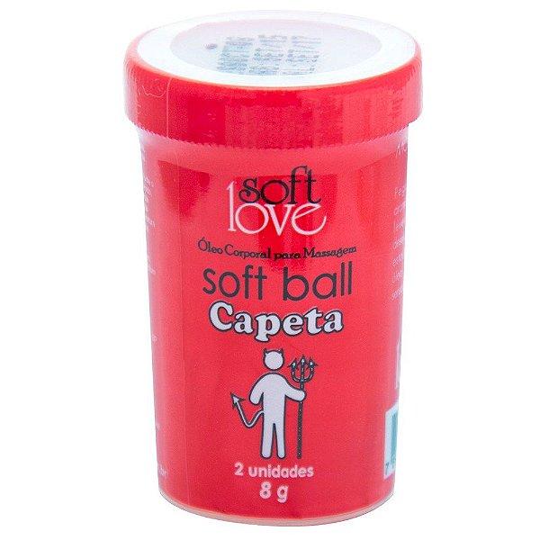 Soft ball beijável capeta 2 unidades