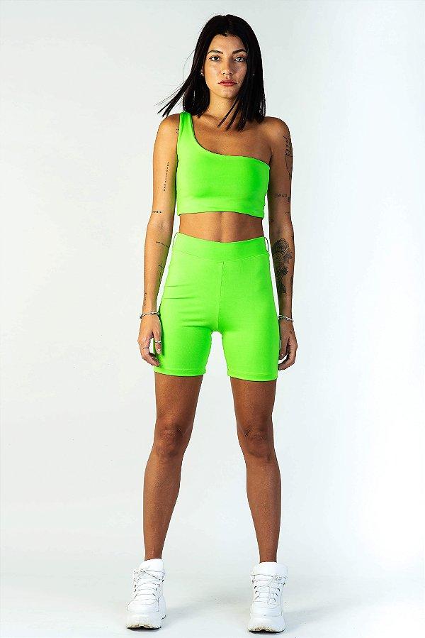 Bike Shorts Feminino Verde Neon