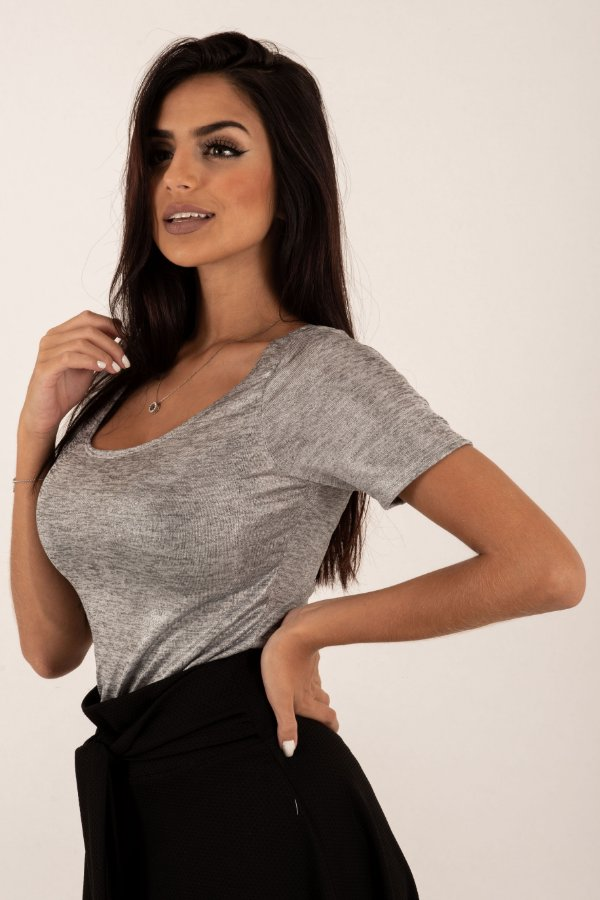 Camiseta Feminina Basica Prata