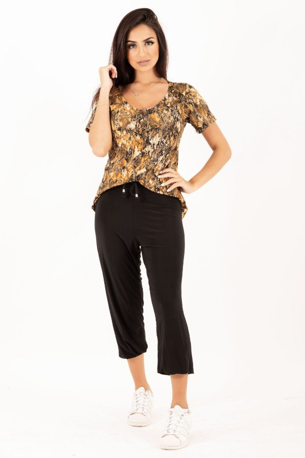 Camiseta Feminina Animal Print Cobra