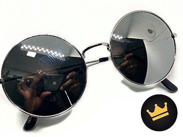 b80d55bc09e00 Óculos De Sol Redondo Top