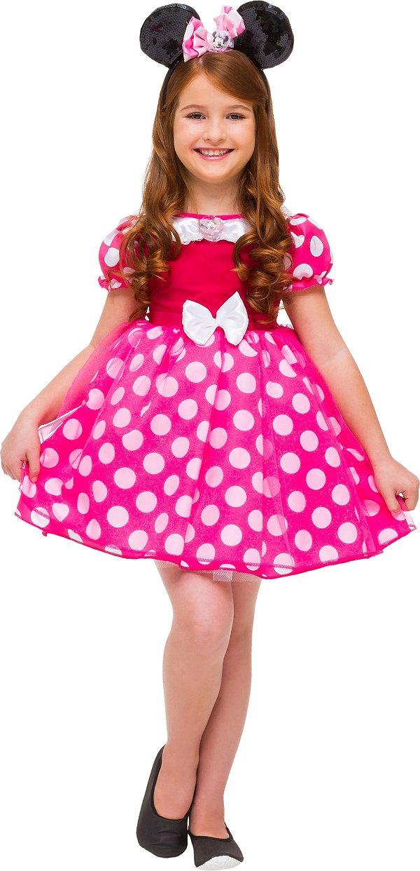 Fantasia Minnie Rosa Luxo 0421