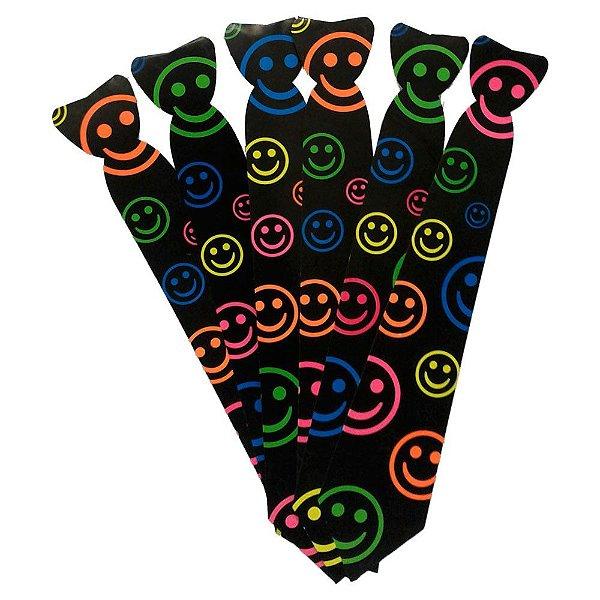 Gravata Cartonagem Smile Neon com 12 Unidades