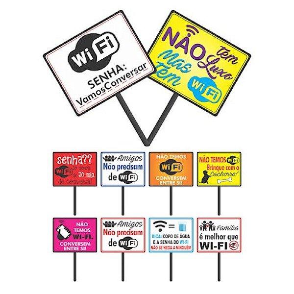 Plaquinha Divertida Wi-fi