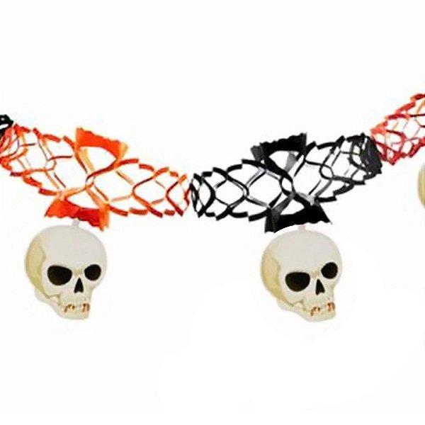 Guirlanda Decorativa Cranio Halloween