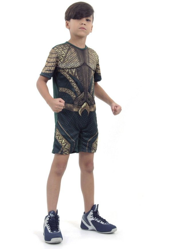 Fantasia Aquaman Curto com Musculatura 16109