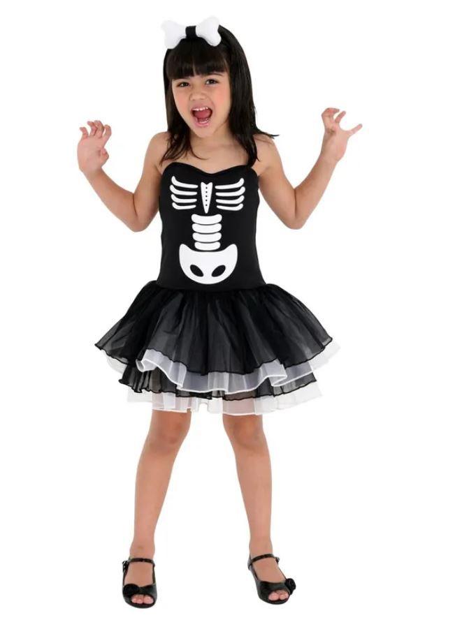Fantasia Bruxa Esqueleto Inf 23371