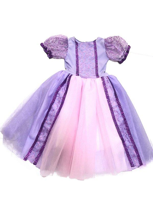 Fantasia Princesa Lilás LC