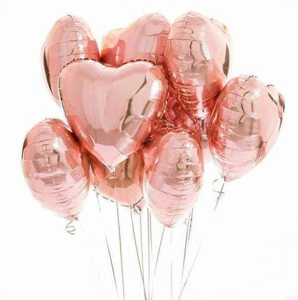 Balão Coração Metalizado