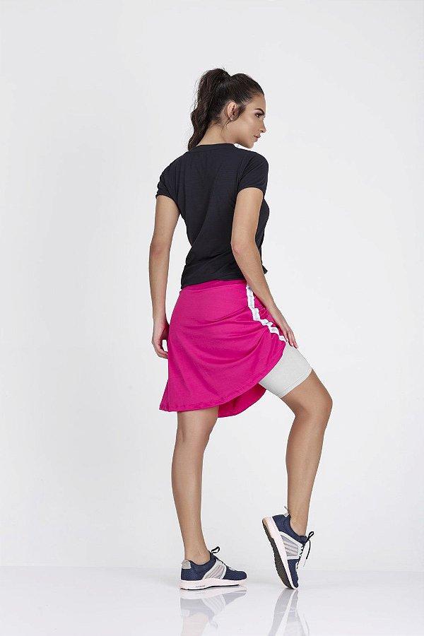 Saia Shorts Legging Rosa Neon Epulari
