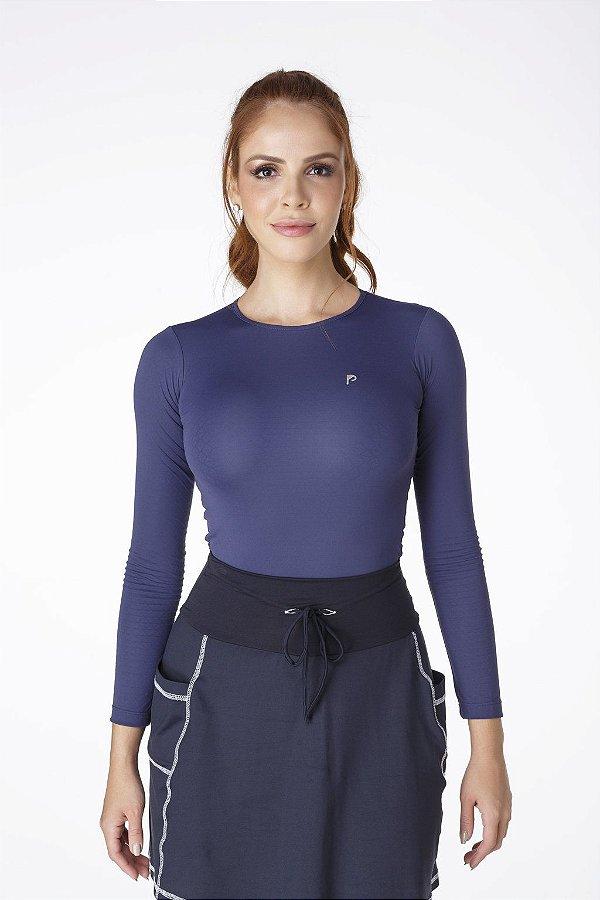 Body Térmico UV+50 Azul Marinho Epulari