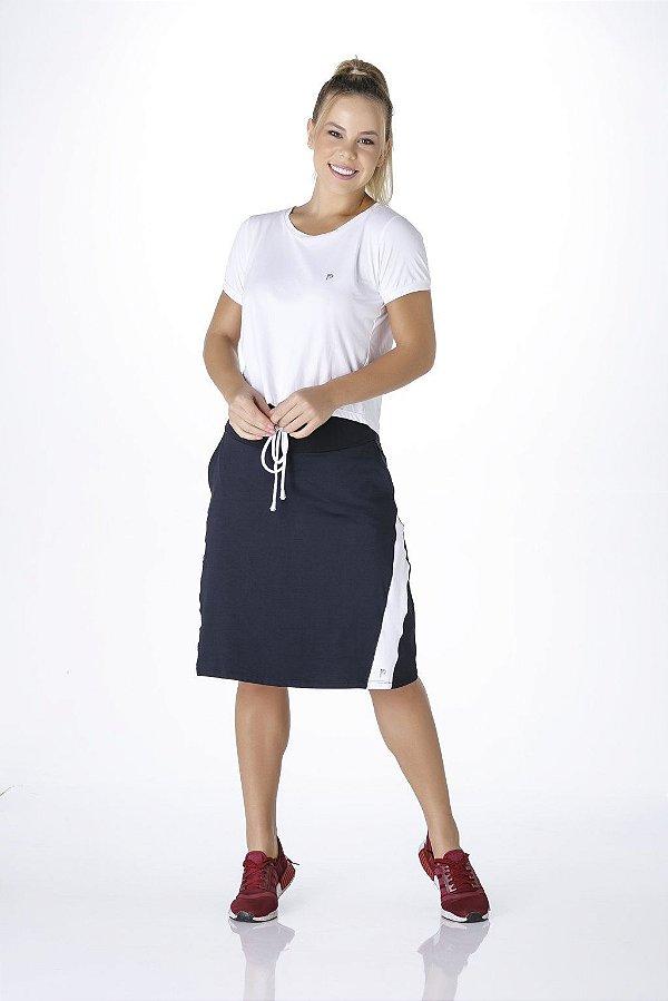 Shorts Saia Preto Com Branco Poliamida UV+50 Epulari
