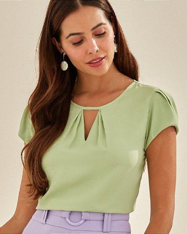 Blusa Crepe Gota Unique Chic - Verde