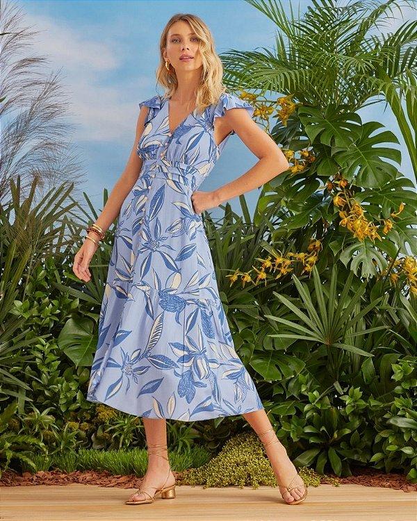 Vestido Midi Floral Aramodu