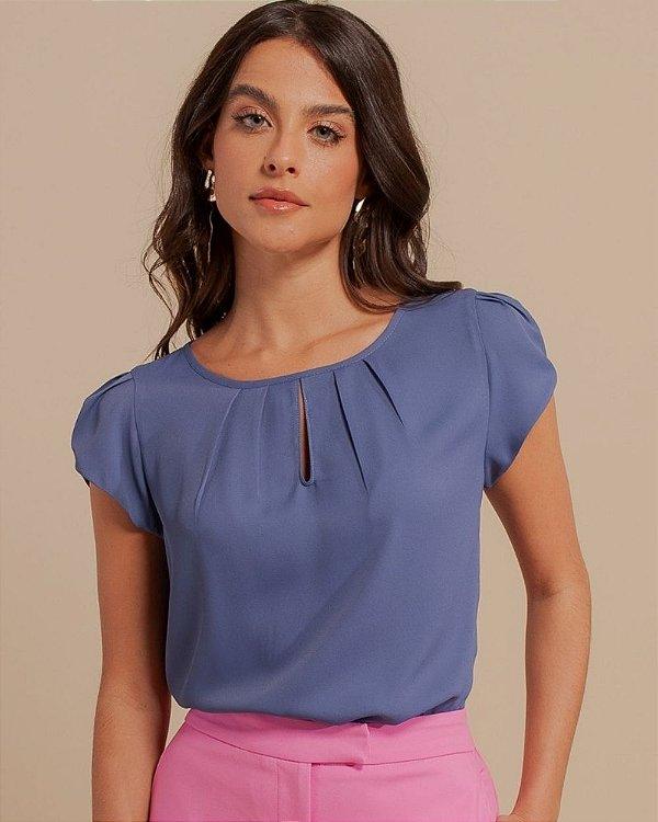 Blusa Básica Gota Unique Chic - Azul