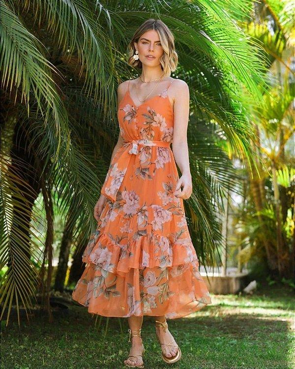 Vestido Midi Floral Milalai