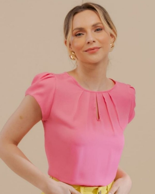 Blusa Básica Gota Unique Chic - Rosa