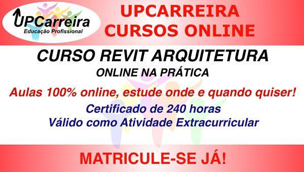 Curso Revit Arquitetura Online na Prática -  Especialização em Software desenho arquitetônico com Certificado 240 Horas.