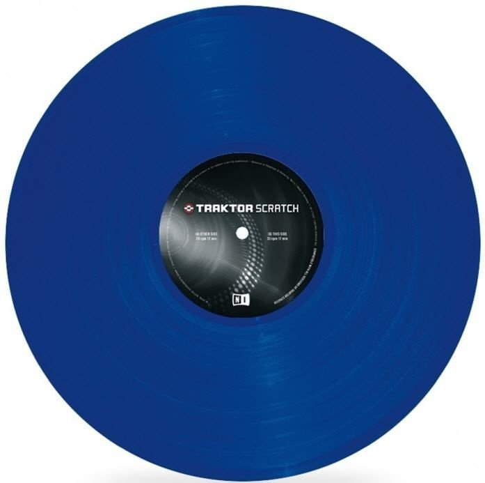 Vinil Traktor Scratch Timecode MK2 Vinyl  - Blue