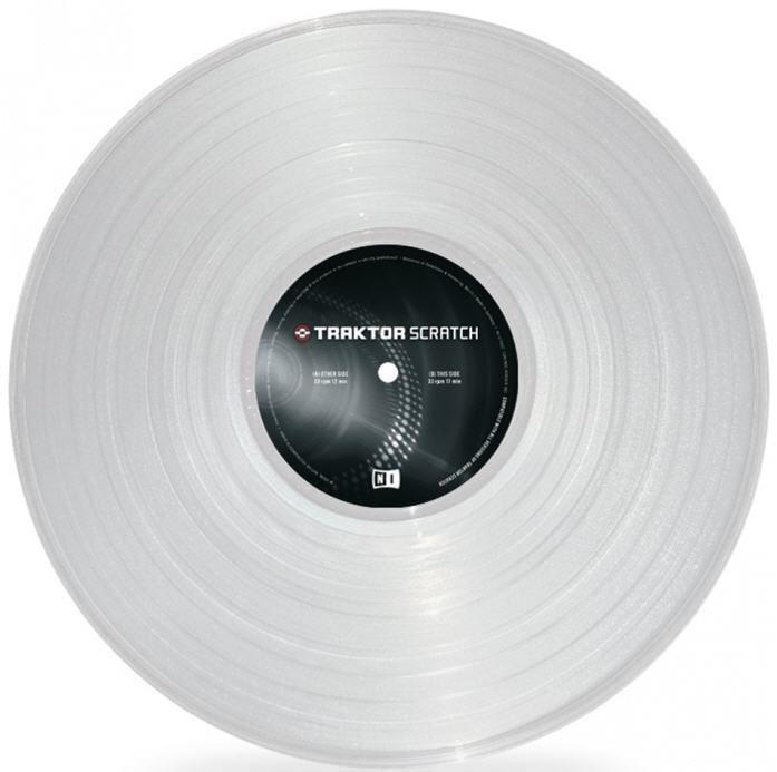 Vinil Traktor Scratch Timecode MK2 Vinyl - Clear