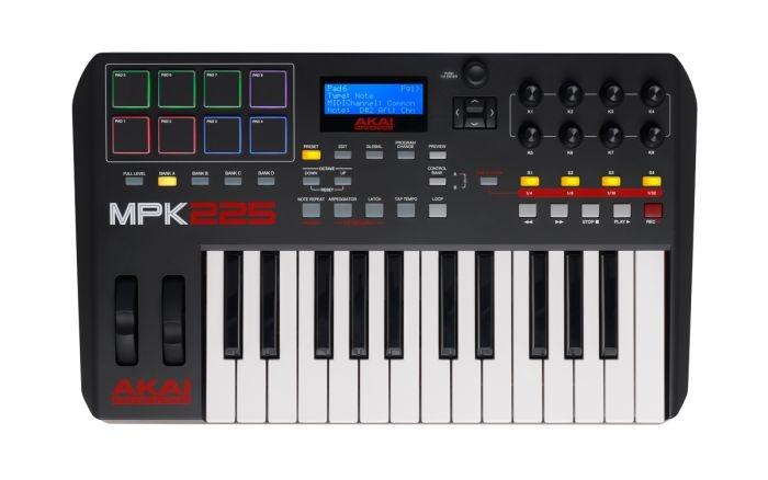 AKAI MPK 225 teclado controlador MIDI/USB