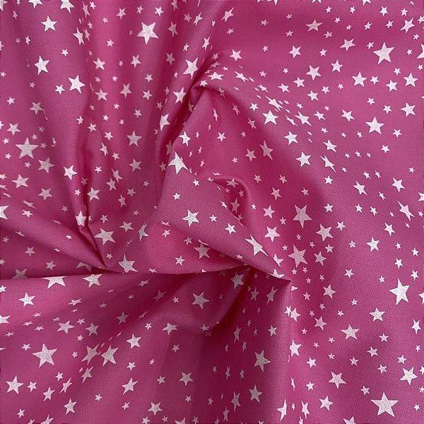 Tecido Tricoline Estrelas 💖⭐️ 100% Algodão 1,40x1,00m