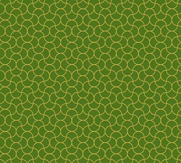 Tecido Tricoline Verde com Dourado Artesanatos 100% Algodão 1,40x1,00m