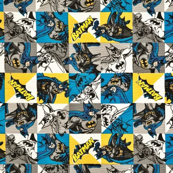 Tecido Galinha Batman 1,40x1,00m Infantil Impermeabilizado
