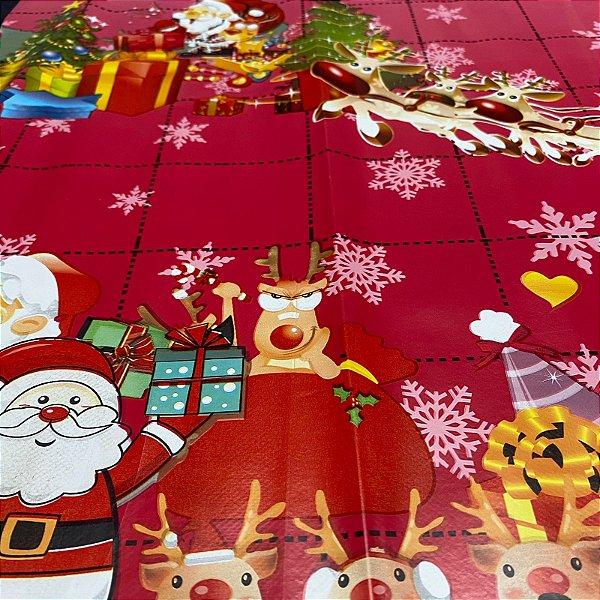 Toalha de mesa Plástica Térmica Natal 1,40x1,00 Cozinha Decoração