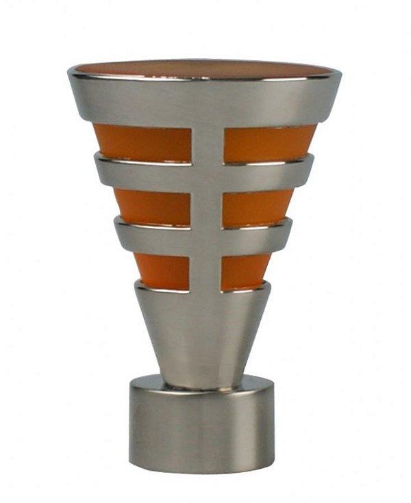 Ponteira Egito Aço Escovado -28mm