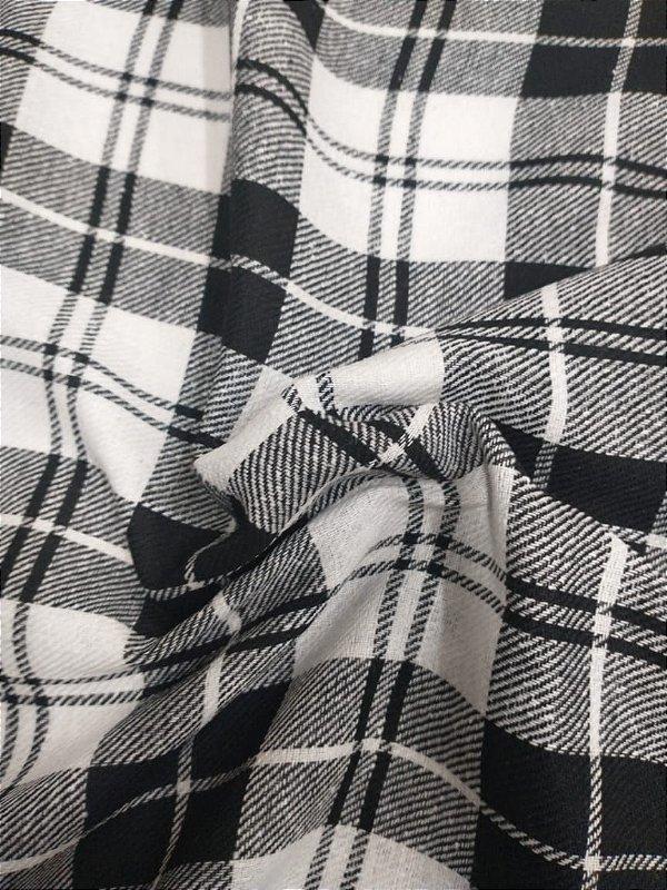 Flanela Xadrez duplo preto e branco