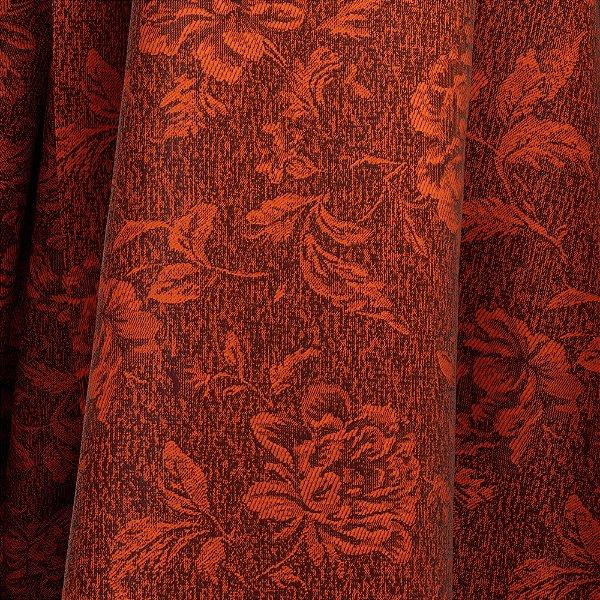 Tecido Para Sofá e Estofado Jacquad Impermeabilizado Panama 125 Flor Terracota - Largura 1,40m - PN-125