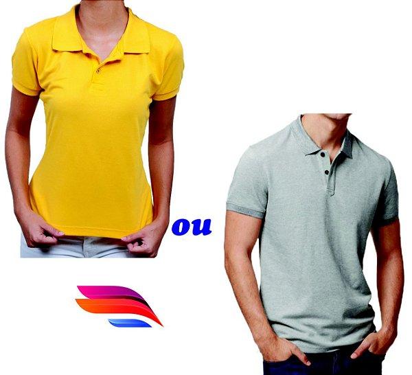 7b57f1b69 Camisa Pólo Pique - Personalizada - Tamanhos (P-M-G-GG) - com Bordado  Pequeno