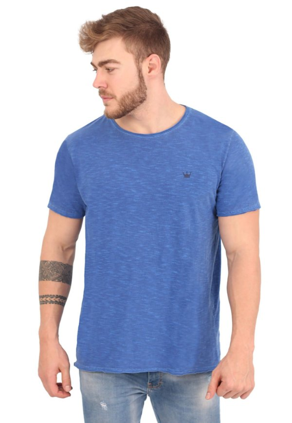 Camiseta Básica Flamê Azul