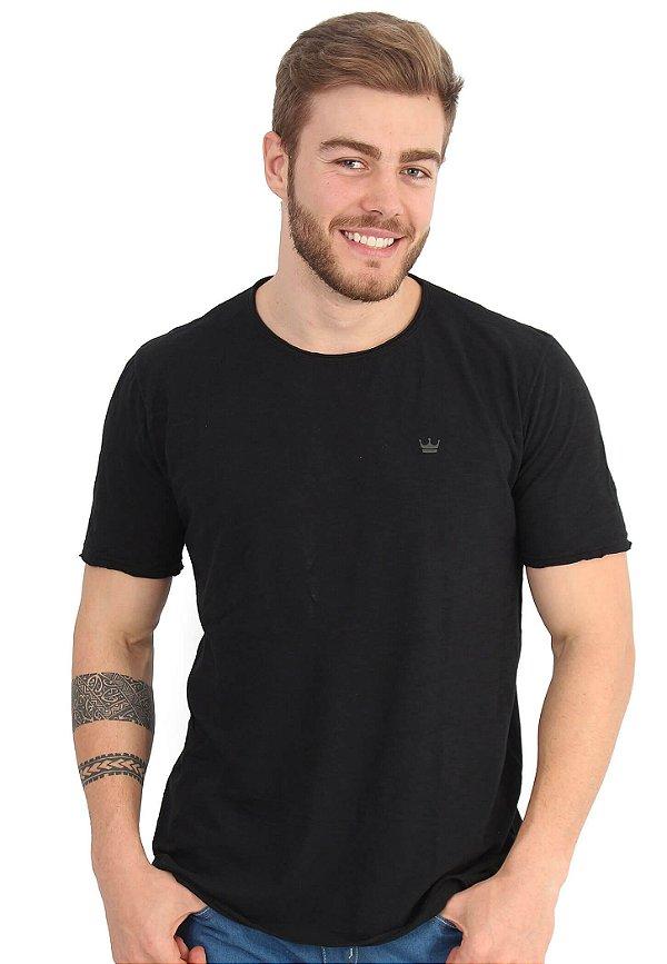 Camiseta Básica Flamê Preto