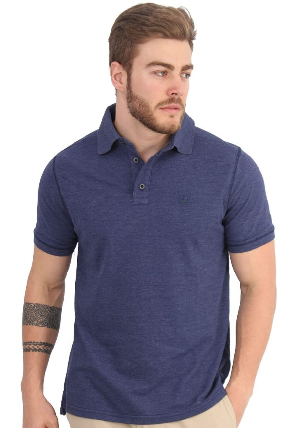 Polo Basic Azul Denim