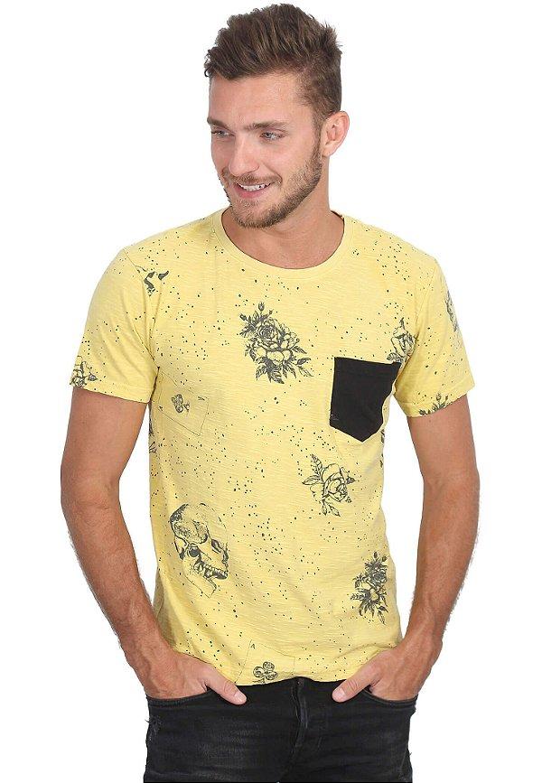 Camiseta Yellow Skull