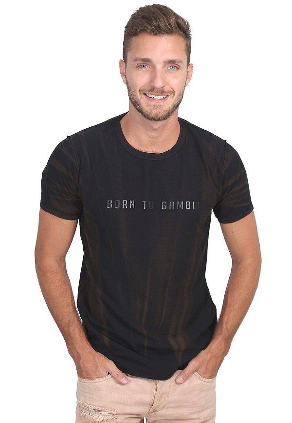 Camiseta Born to Gamble Rust