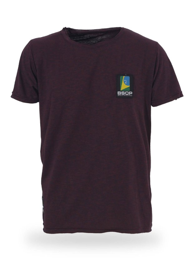 Camiseta BSOP Logo Vinho