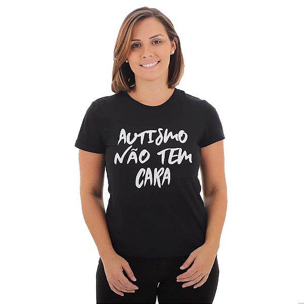 Camiseta Feminina Autismo Não Tem Cara