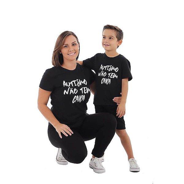 Kit Promo 3 Camisetas Autismo Não Tem Cara