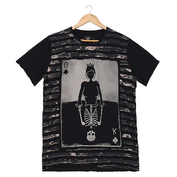 Camiseta King Queen Camuflado